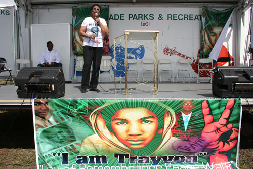 Click to see more photos from the Trayvon Martin event with Jamie Foxx